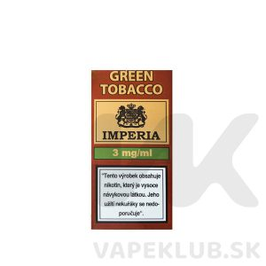 imperia green tobacco liquid 10ml