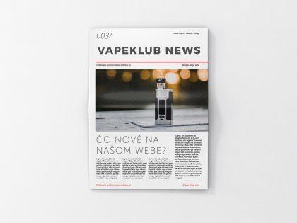 Spustili sme Vapeklub Newsletter